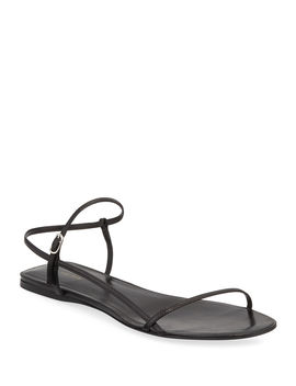 Bare Flat Strappy Sandals by The Row
