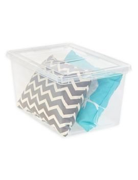 Iris® 58 Qt. Clear Storage Box With Lid by Bed Bath And Beyond