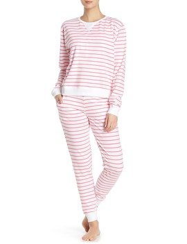 Pink Zebra Stripe Joggers by Sant And Abel