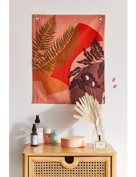 Colorblock Plant Flag Tapestry by Urban Outfitters