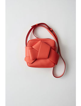 Camera Style Bag Coral Red/Burgundy by Acne Studios
