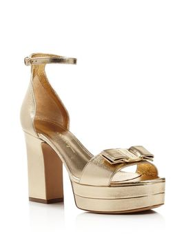 Women's Eclipse Block Heel Platform Sandals by Salvatore Ferragamo