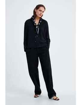 Asymmetric Silk Shirt  View All Shirts by Zara