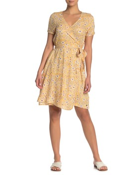 Monument View Floral Print Wrap Dress by Roxy