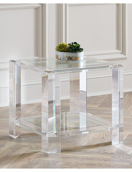 Langston Acrylic Side Table by Interlude Home