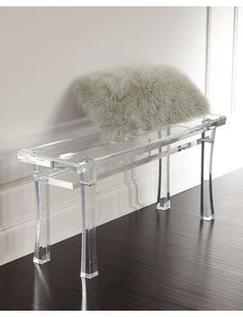 Jacinda Acrylic Bench by Interlude Home