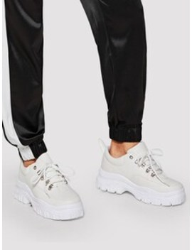 Plain Lace Up Chunky Trainers by Sheinside