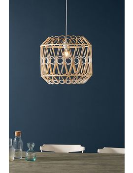 Layla Rattan Pendant by Anthropologie