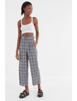 Uo Gingham Paperbag Pant by Urban Outfitters