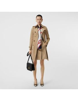 Gold Button Cotton Gabardine Trench Coat by Burberry