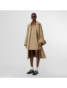 Exaggerated Cuff Cotton Gabardine Car Coat by Burberry