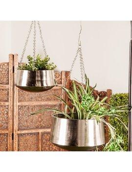 Entrekin 2 Piece Iron Hanging Planter Set by Orren Ellis