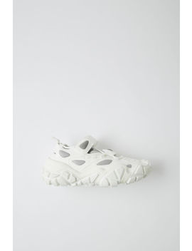 Open Velcro Sneakers White/White by Acne Studios