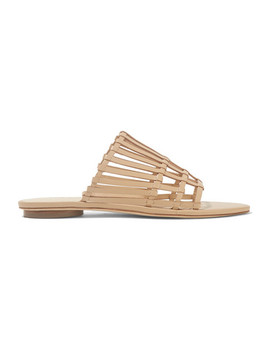 Zoe Woven Leather Sandals by Cult Gaia
