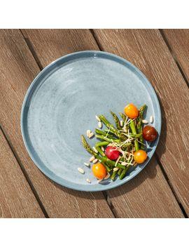Cruz Light Blue Melamine Dinner Plate by Crate&Barrel