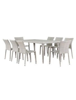 Dover 9pc Wicker Dining Set   Christopher Knight Home by Christopher Knight Home
