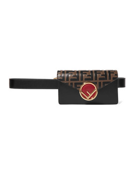 Embellished Embossed Leather Belt Bag by Fendi