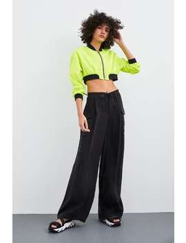 Cropped Bomber  Neonwoman by Zara