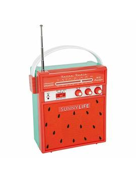 Sunny Life Retro Portable Beach Mp3 Smartphone Speaker With Am/Fm Radio by Sunny Life
