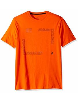 A|X Armani Exchange Men's Short Sleeve Crew Neck Sqaure Graphic T Shirt by A7 Cx Armani+Exchange