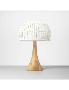"""18"""" X 12"""" Bamboo Table Lamp Natural/White   Opalhouse by Opalhouse"""