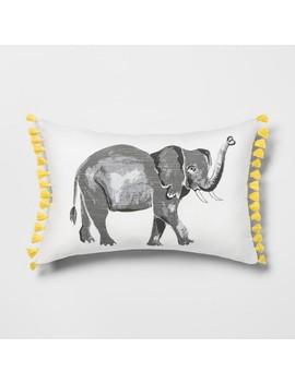 Elephant Lumbar Throw Pillow   Opalhouse by Opalhouse