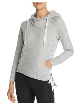Asymmetric Lace Up Hoodie by Marc New York Performance