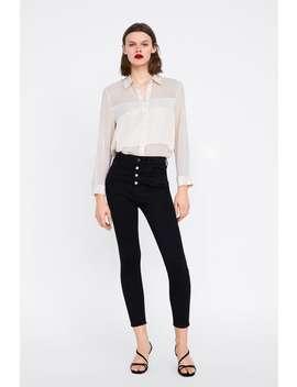 Shirt With Satin Trims  Topswoman by Zara