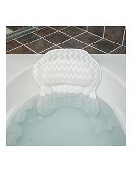 Quilted Air Bath Pillow   Luxury Bathtub Pillow With 3 D Air Mesh Technology, Machine Washable   Quick Drying And Includes Washing Bag And Travel Case (Luxury Escape) by Bath Haven
