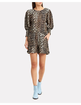 Leopard Puff Sleeve Top by Ganni