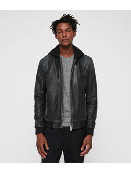 Abbot Leather Bomber Jacket by Allsaints
