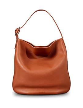 Birdy Grained Leather Hobo Bag by Shinola