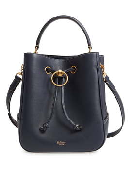 Hampstead Silky Calfskin Leather Bucket Bag by Mulberry