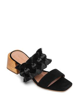 Women's Bella Tassel Block Heel Sandals by Bernardo
