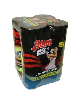 Penn Championship Extra Duty Tennis Balls 4 Can Pack by Can Pack
