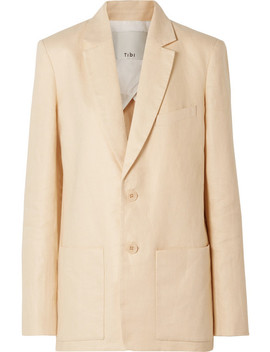Oversized Linen Blazer by Tibi