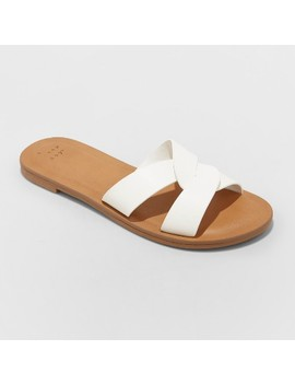 Women's Trina Crossband Slide Sandals   A New Day by A New Day