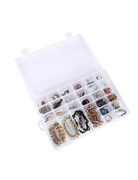 Louise Maelys 36 Grids Adjustable Plastic Storage Containers Jewelry Beads Organizer by Louise Maelys