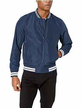Amazon Essentials Men's Lightweight Bomber Jacket by Amazon Essentials