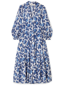 Kiara Printed Cotton And Silk Blend Midi Dress by Diane Von Furstenberg