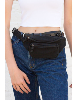 Black Cloth Fanny Pack by Brandy Melville
