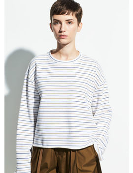 Tri Stripe Long Sleeve Pullover by Vince