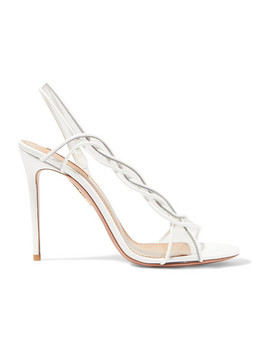 Swing 105 Patent Leather And Pvc Slingback Sandals by Aquazzura