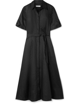 Irenne Belted Linen Dress by Equipment