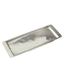 Courts Hammered Stainless Steel Rectangle Serving Tray by World Menagerie