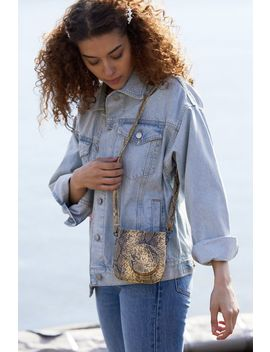 Snake Print Instax Mini 9 Camera Bag by Urban Outfitters