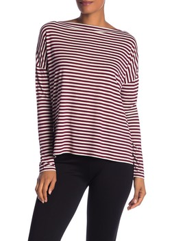 Striped Boat Neck Top by Vince