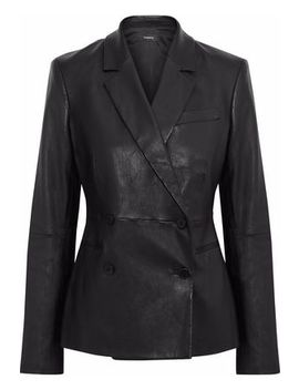 Bristol Leather Blazer by Theory