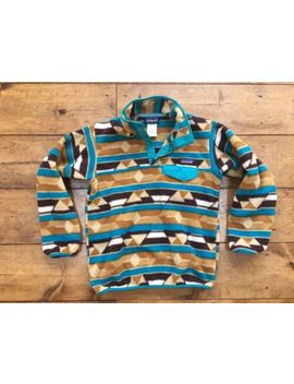Patagonia Synchilla Snap T Fleece Pullover Women's Xs Earth Tone Desert Aztec by Patagonia