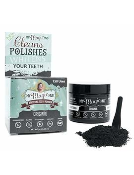 My Magic Mud Activated Charcoal Tooth Powder For Whitening, 100 Percents Natural Oral Care, Fluoride Free, Non Gmo, Original, 150 Uses, 1.06 Oz. by My Magic